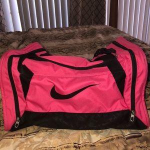 Nike sport bag pink and black.